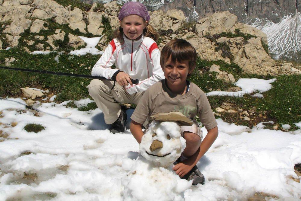 Attività in primavera sull'Alpe di Siusi in Alto Adige